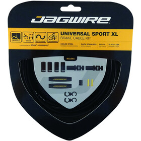 Jagwire Sport XL Universal Brake Cable Set for Shimano/SRAM black